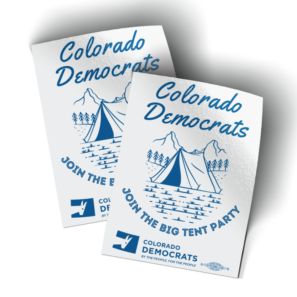 """Join The Big Tent Party (3"""" x 4"""" Vinyl Sticker -- Pack of Two!)"""