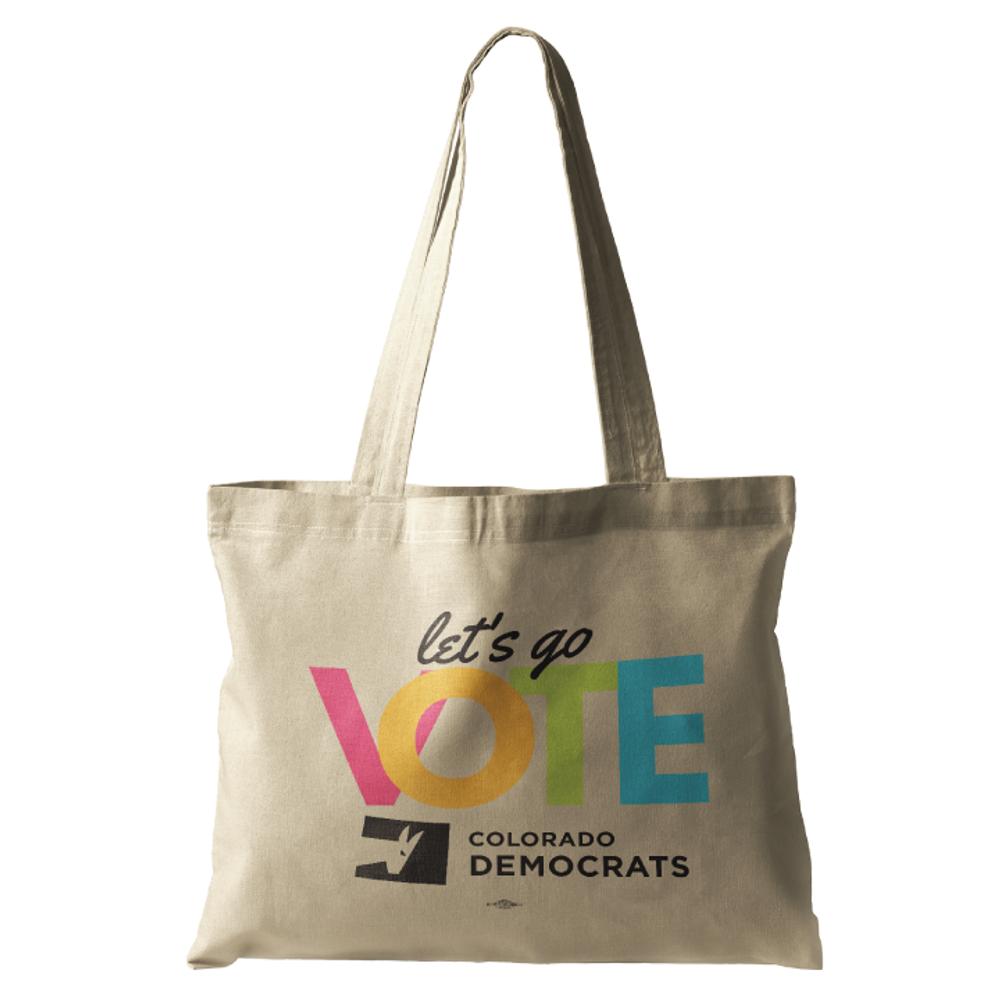 Let's Go Vote (Natural Canvas Tote)