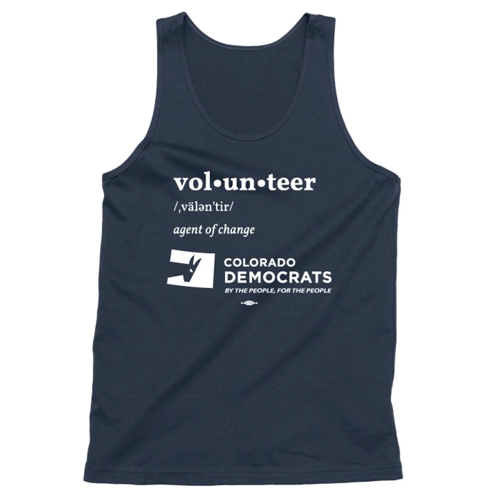 Volunteer Definition (Unisex Navy Tank)