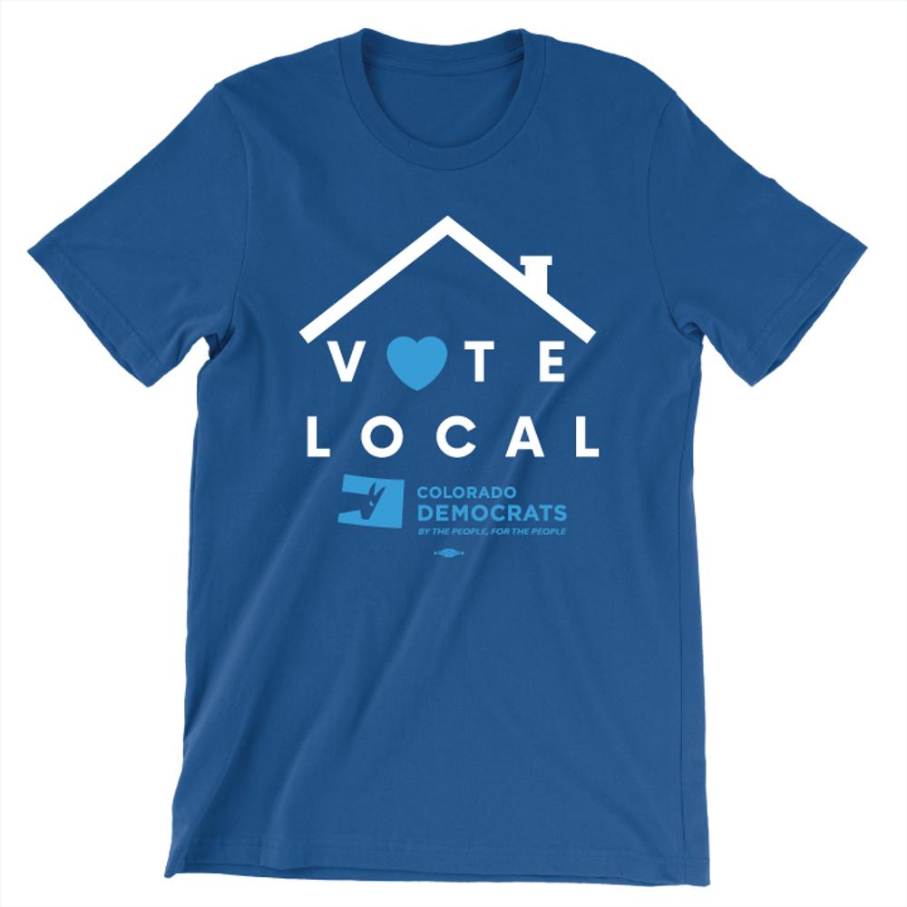 Vote Local (Unisex Royal Blue Tee)