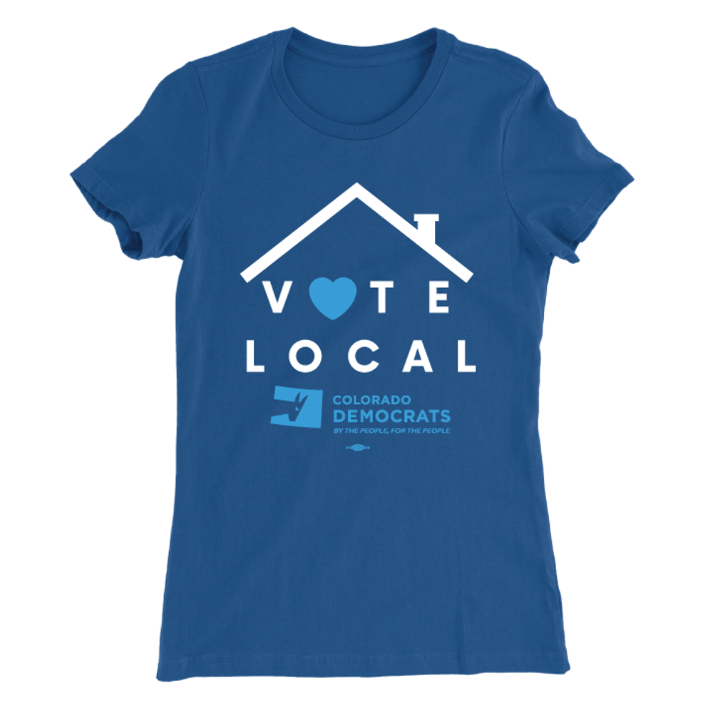 Vote Local (Women's Royal Blue Tee)
