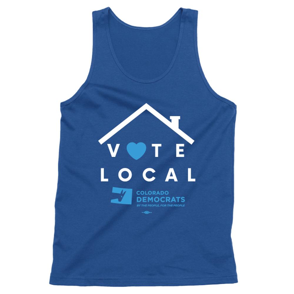 Vote Local (Unisex Royal Blue Tank)