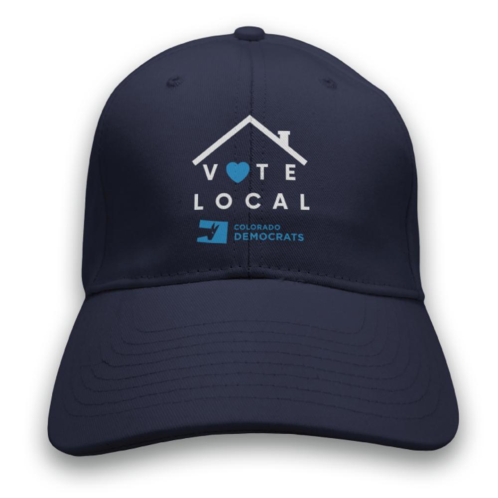 Vote Local (Navy Baseball Cap)