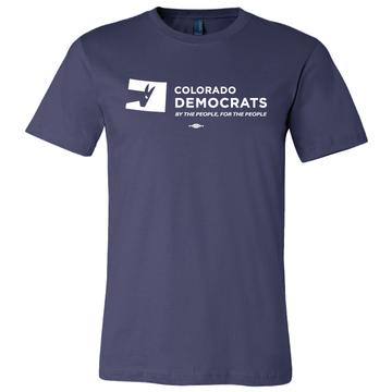 Colorado Democrats Official Logo (Navy Tee)