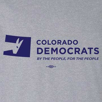 Colorado Democrats Official Logo (Athletic Heather Tee)