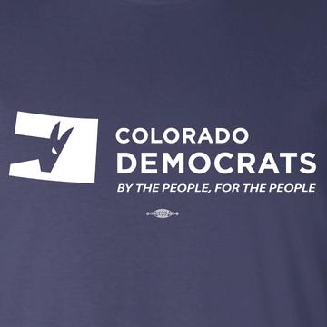 Colorado Democrats Official Logo (Navy Ladies-Cut Tee)