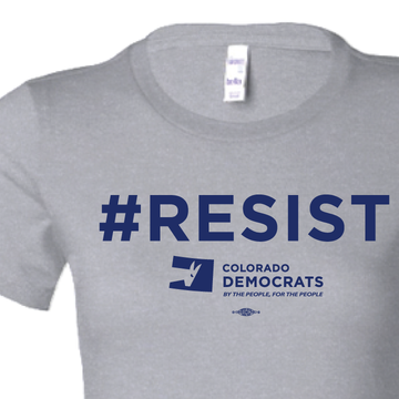 #RESIST (Athletic Heather Ladies-Cut Tee)