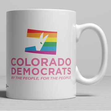 Colorado Democrats Pride Logo (11oz. Coffee Mug)