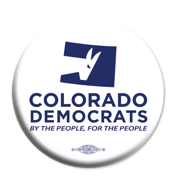 "Colorado Democrats Official Logo  (2.25"" Mylar Button -- Pack Of Two!)"