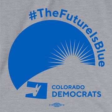 The Future Is Blue (Athletic Heather Ladies Tee)