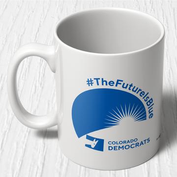 The Future Is Blue (11oz Ceramic Mug)