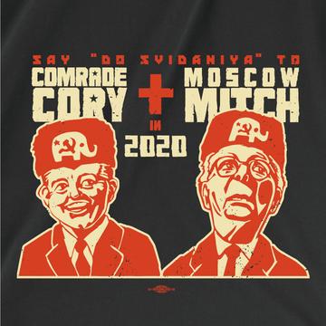 Comrade Cory + Moscow Mitch (Women's Black Tee)