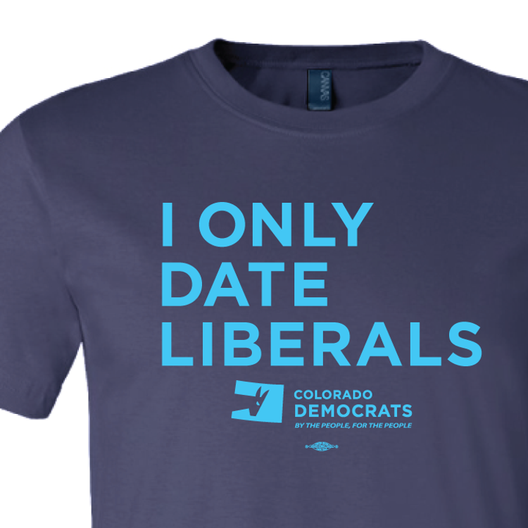 I Only Date Liberals (Navy Tee)