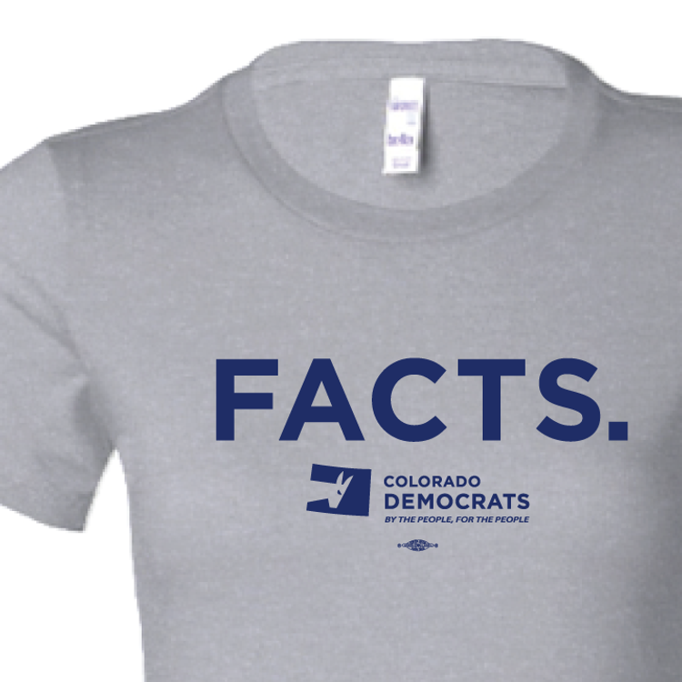 FACTS.  (Athletic Heather Ladies-Cut Tee)