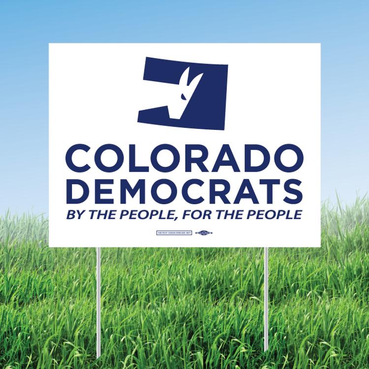"Colorado Democrats Official Logo (24"" x 18"" Coroplast Yard Sign)"