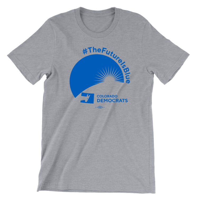 The Future Is Blue (Unisex Athletic Heather Tee)