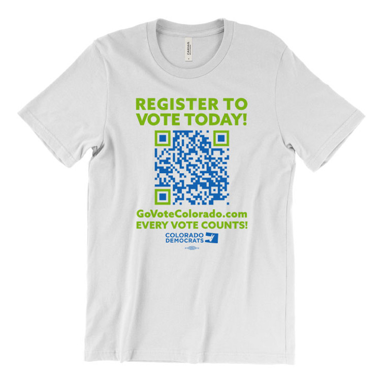 Register To Vote Today! (Unisex White Tee)