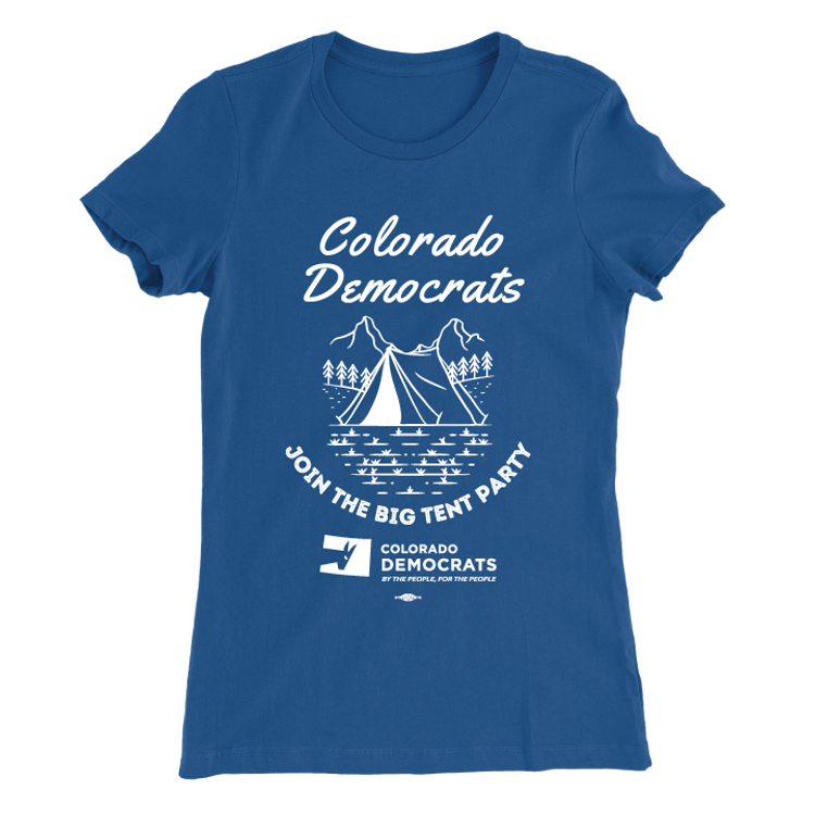 Join The Big Tent Party (Women's Royal Blue Tee)