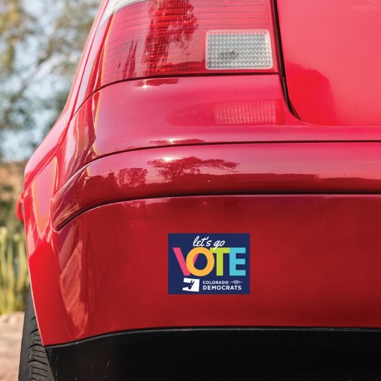 """Let's Go Vote (4"""" x 3"""" Bumper Magnet)"""