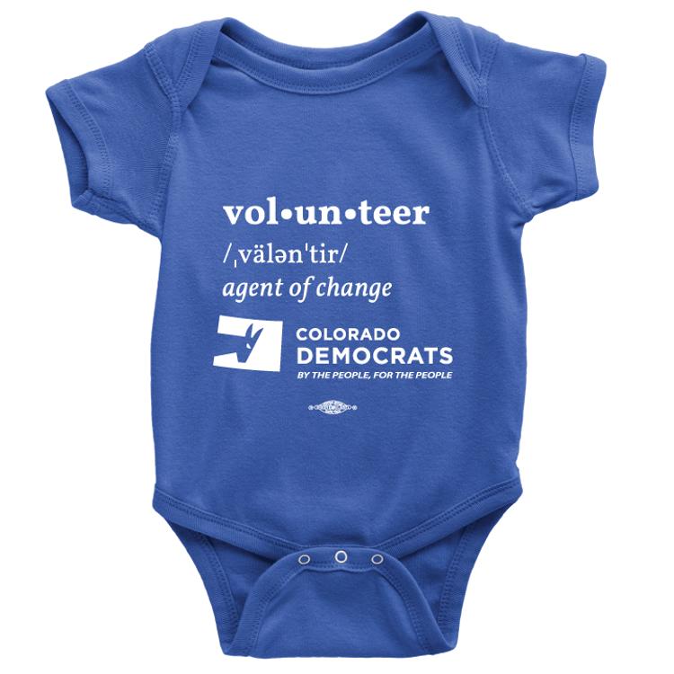Volunteer Definition (Royal Blue Onesie)