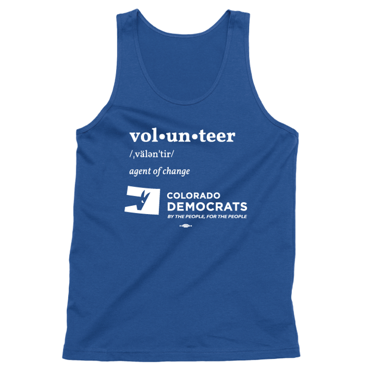 Volunteer Definition (Unisex Royal Blue Tank)