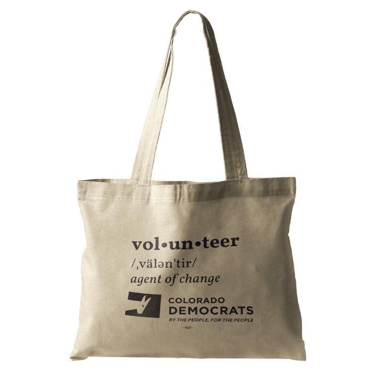 Volunteer Definition (Natural Canvas Tote)