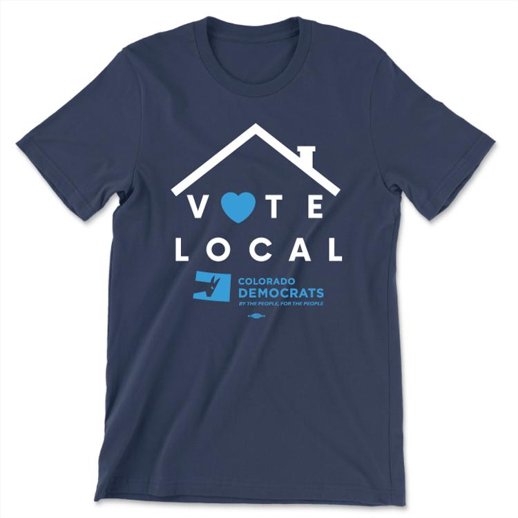 Vote Local (Unisex Navy Tee)