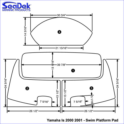 SeaDek Swim Platform Pads for Yamaha Models