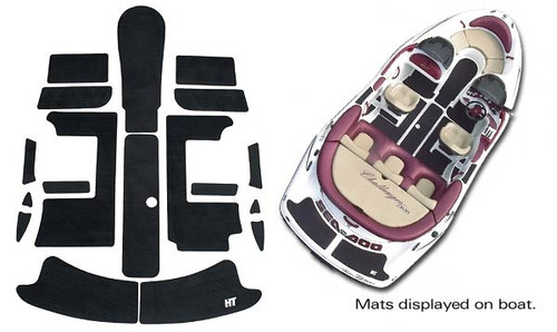 Sea-doo hydro-turf mats speedster 96 /& 96-99 sportster SD02 Purple Cut groove