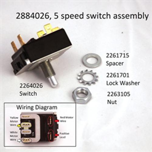 Minn Kota All Terrain and Edge 5 Speed Foot Pedal Switch #2884026