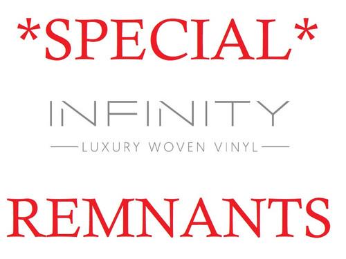 Infinity Luxury Woven Vinyl Remnants - Various Styles & Sizes