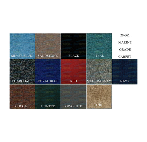 20 oz. All Purpose Marine Boat Carpet - 2' wide x Various Length Remnants