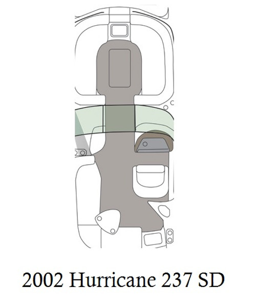 2002-2006 Hurricane 237 SD Infinity Luxury Woven Vinyl Replacement Set