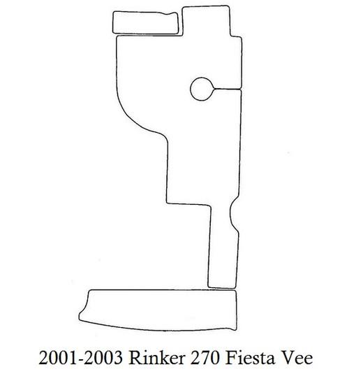 2001-2003 Rinker 270 Fiesta Vee Infinity Luxury Woven Vinyl Replacement Set