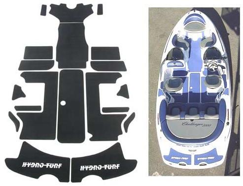 Sea-Doo Jet Boat Exterior Traction Mat Kit 210 Challenger Black Diamond Plate 2010-2012 All