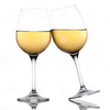 two white wine glasses