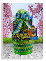 If your favorite little boy loves trucks, he will flip when he sees his basket complete with a set of 5 Hot Wheels cars, a monster Hot Wheels truck, Cadbury crème eggs, a chocolate bunny and assorted candies.