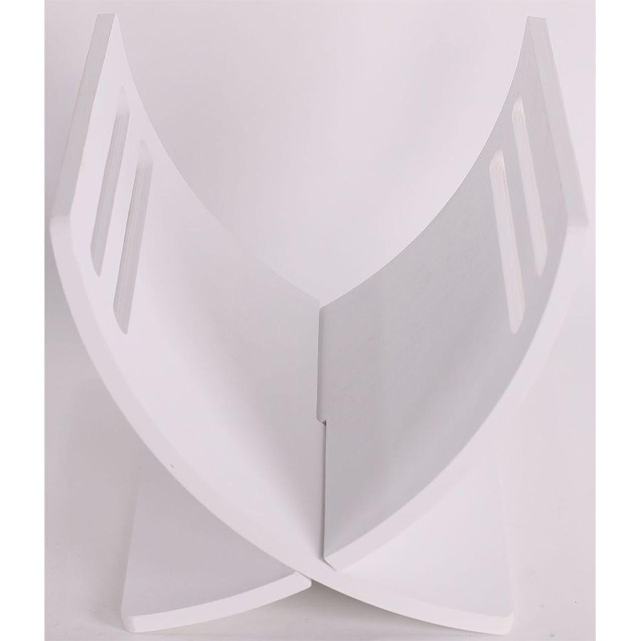 Solid Wood Magazine Holder, White Color