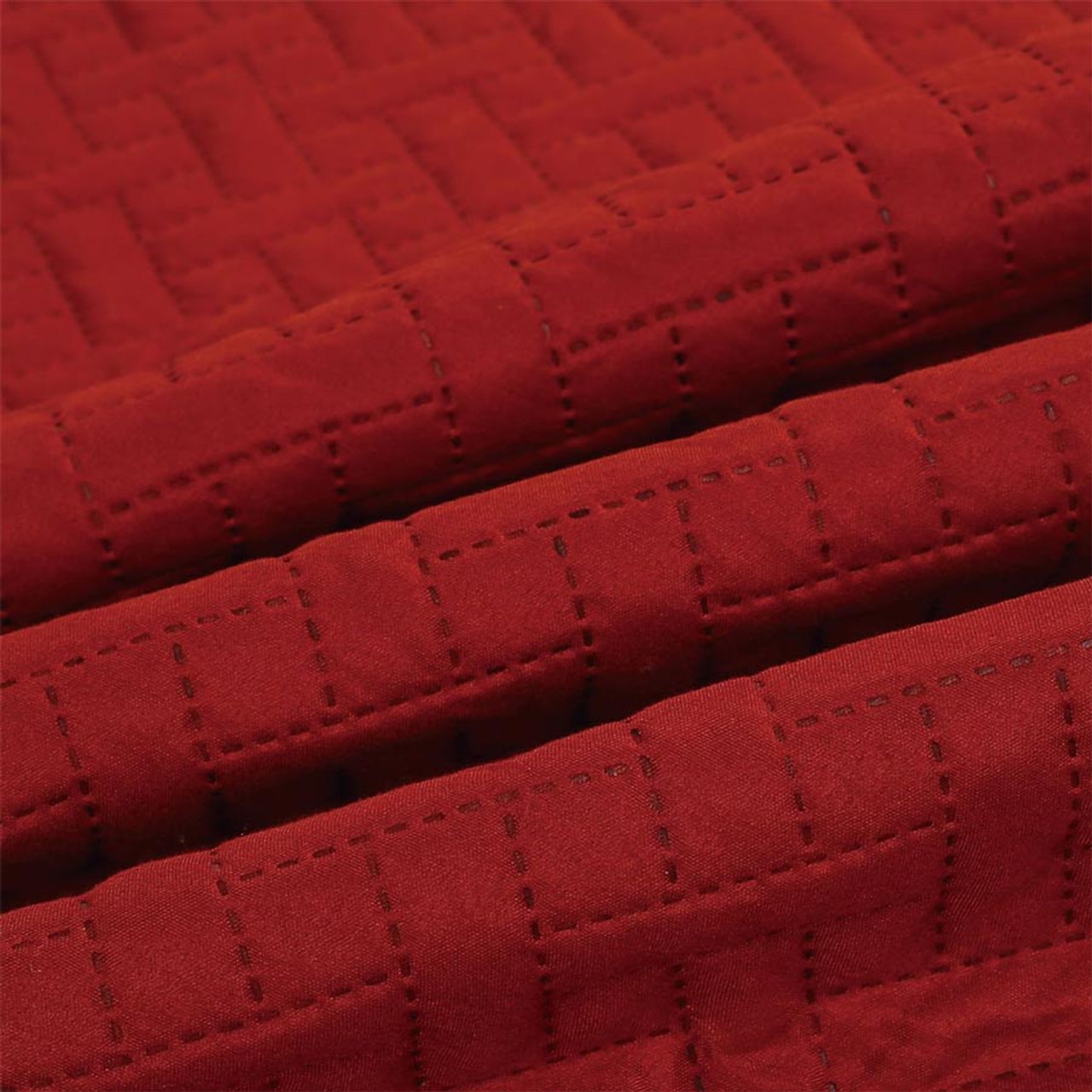 3 PC Squared Stitched Pinsonic Reversible Oversized Bedspread