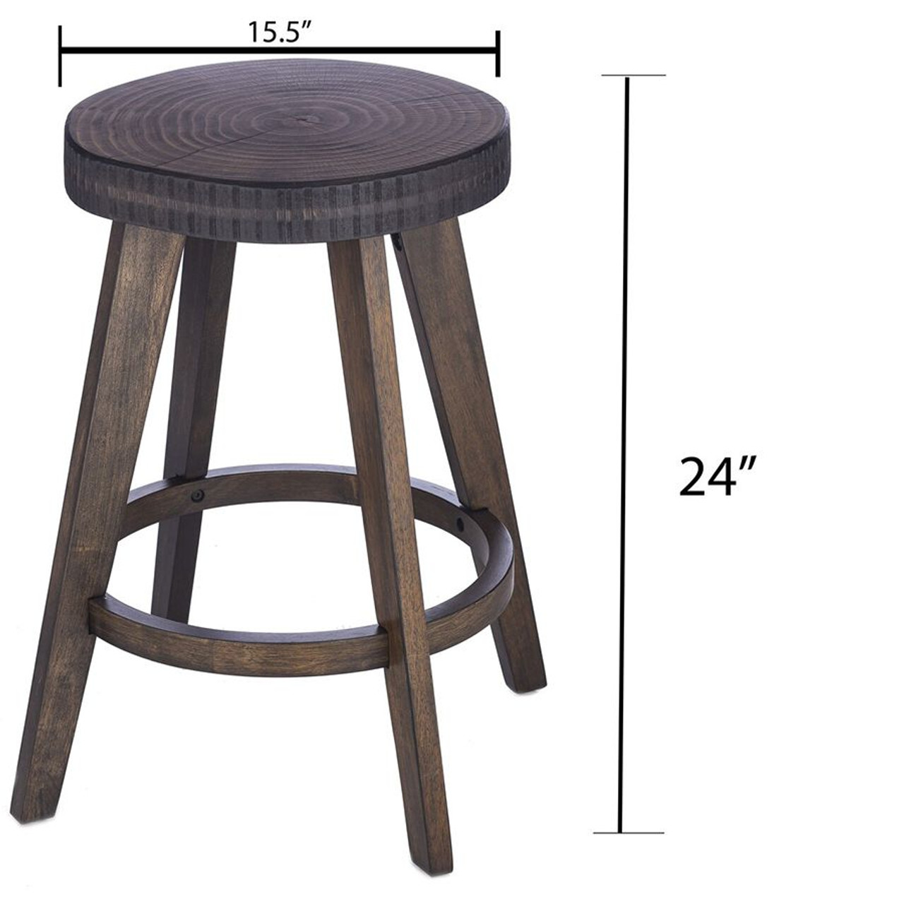 Set of 2 Barstools Counter & Bar Height