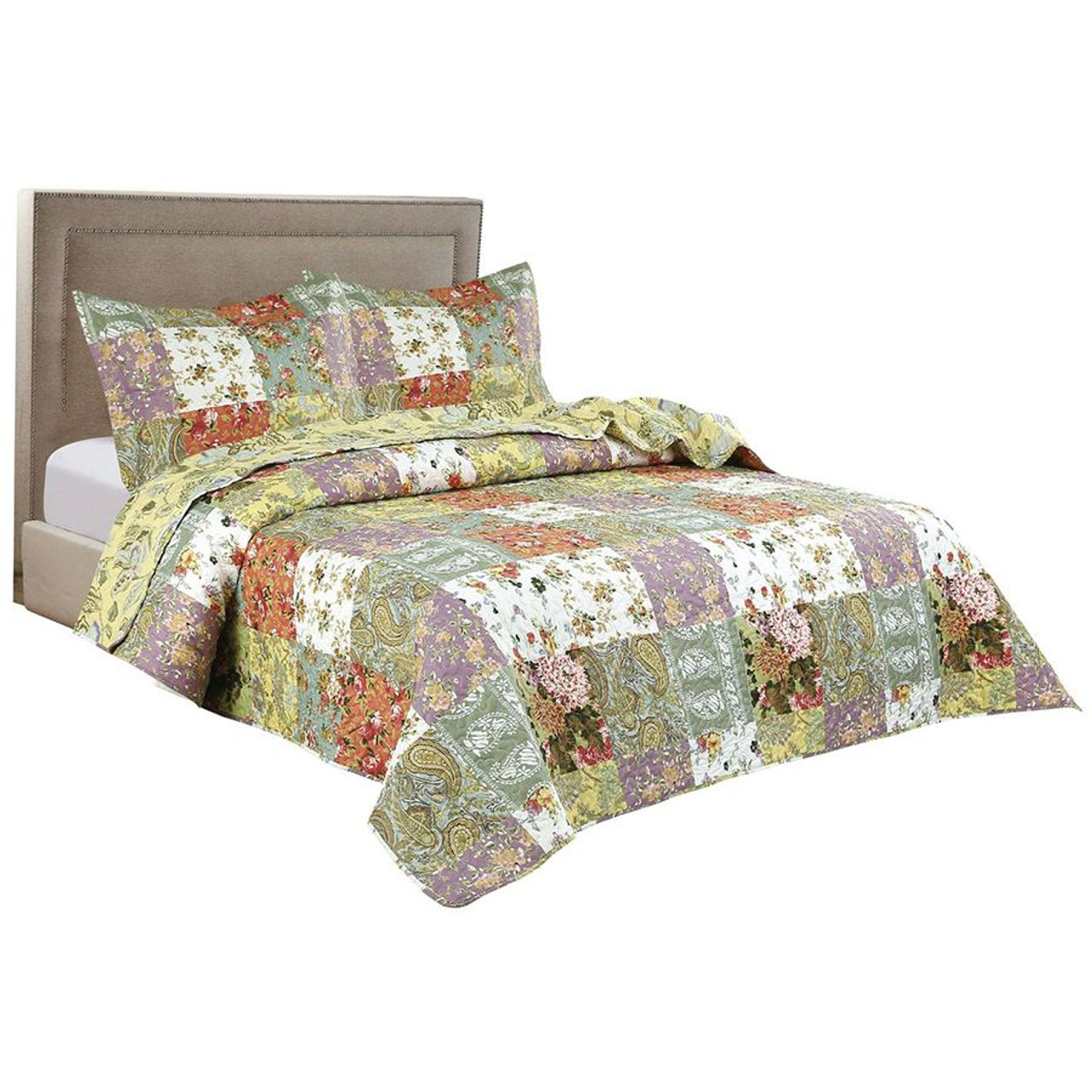 3 PC Arrow Stitched Pinsonic Reversible All Season Oversized Bedspread