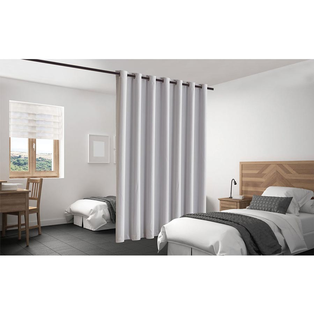 Blackout Room Divider Curtain Panel Thermal Insulated  Stone Color