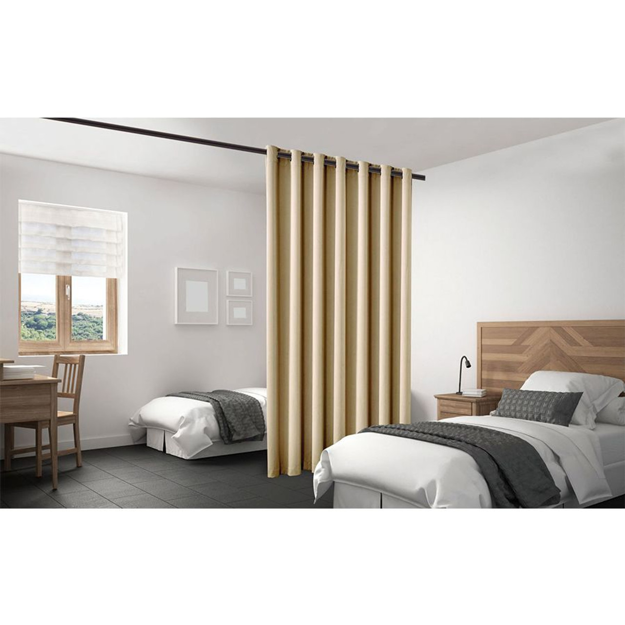 Blackout Room Divider Curtain Panel Thermal Insulated Cappuccino Color