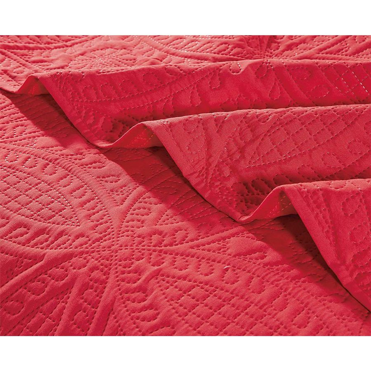 3 pcs Oversized Bedspread Coverlet Set Paradise Pink Color
