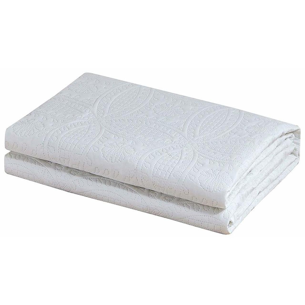 3 Pc Oversized Bedspread Coverlet Set White Color in USA, California, NY, New York City, Los Angeles, San Francisco, Pennsylvania, Washington DC, Virginia and Maryland