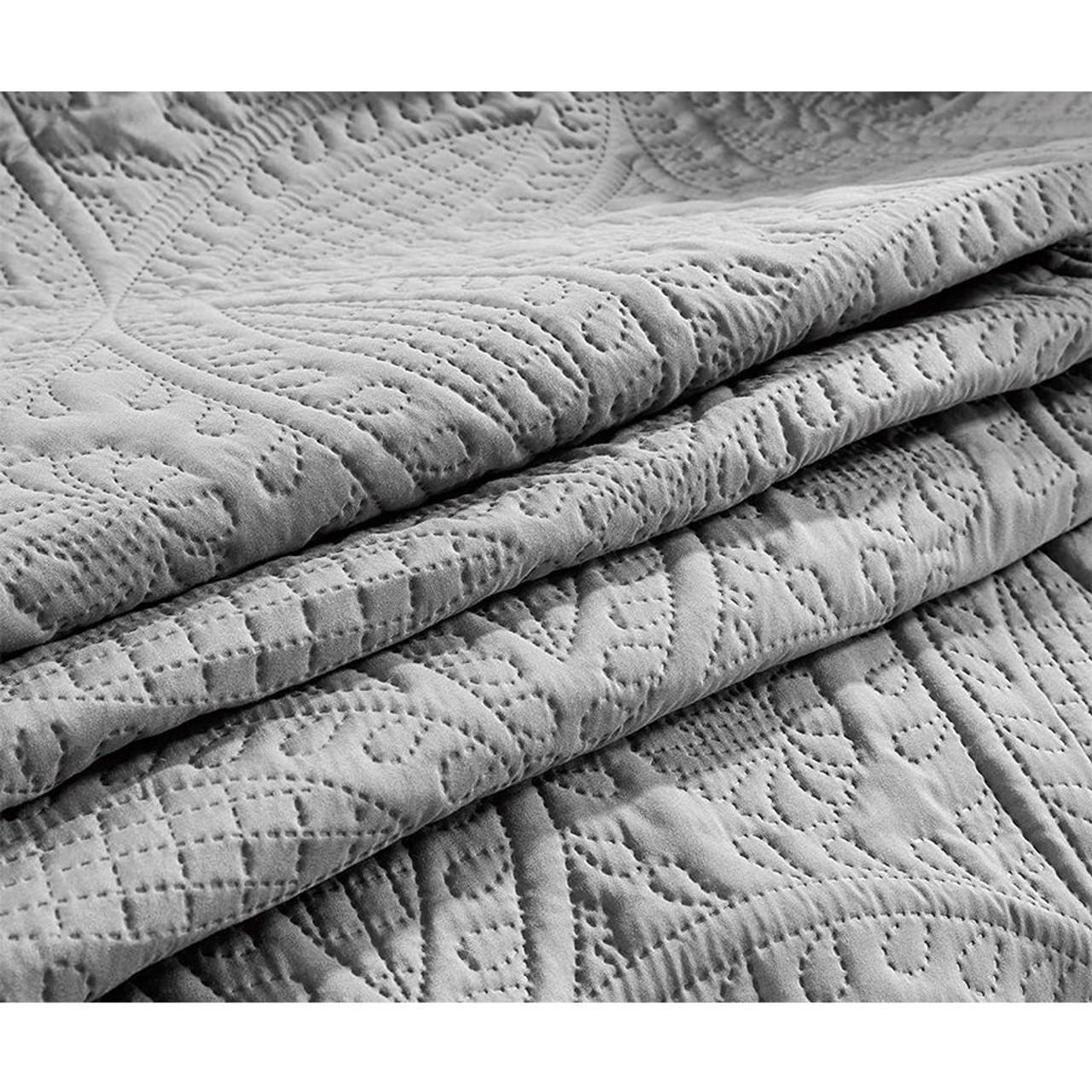 3 Pc Oversized Bedspread Coverlet Set Charcoal Color in USA, California, New York, NY City, Los Angeles, San Francisco, Pennsylvania, Washington DC, Virginia, Maryland