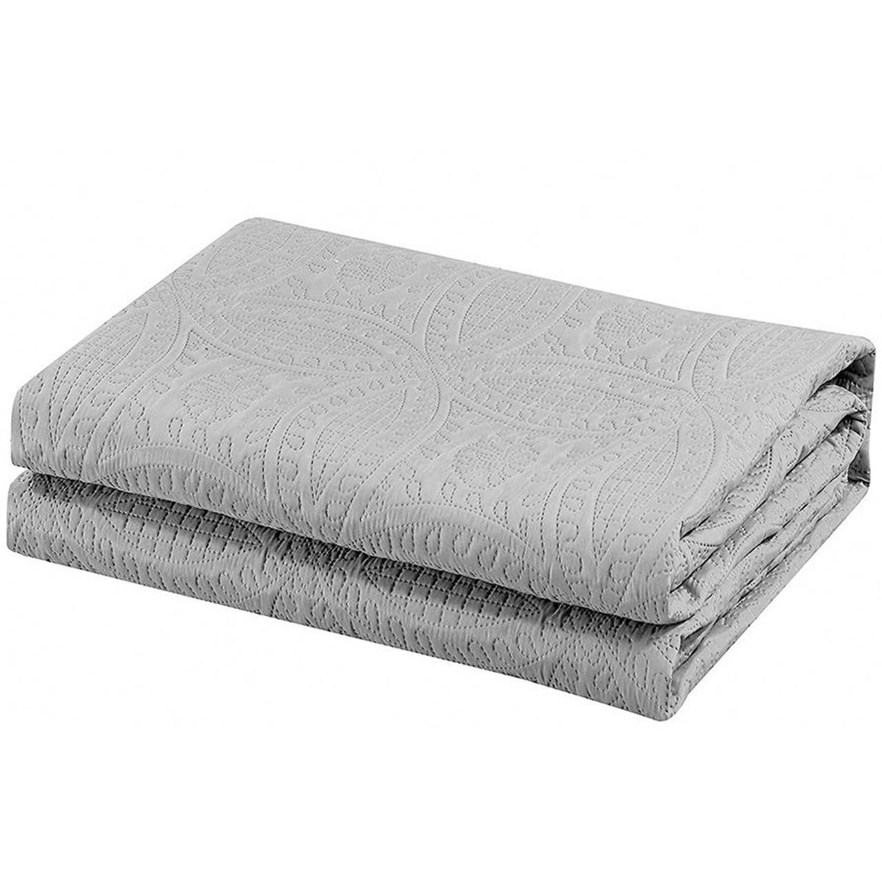 3 Pc Oversized Bedspread Coverlet Set Charcoal Color in USA, California, New York, NY City, Los Angeles, San Francisco, Pennsylvania, Washington DC, Virginia and MD