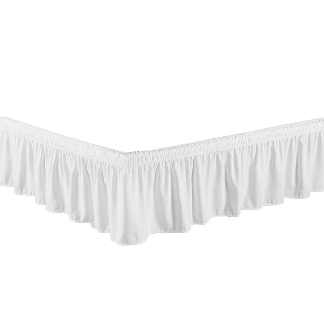 "White Bed Skirt Dust Ruffle 100% Brushed Microfiber with 14"" Drop in USA, California, New York, New York City, Los Angeles, San Francisco, Pennsylvania, Washington DC, Virginia, Maryland"