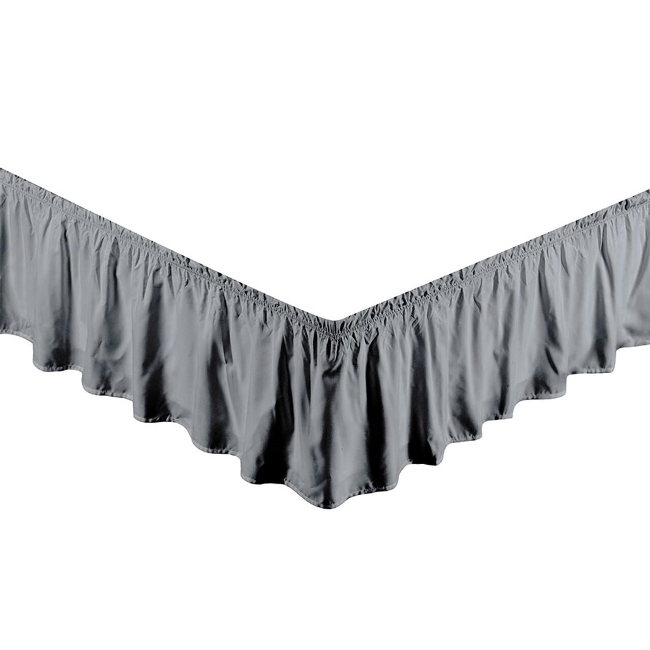 "Grey Bed Skirt Dust Ruffle 100% Brushed Microfiber with 14"" Drop in USA, California, New York, New York City, Los Angeles, San Francisco, Pennsylvania, Washington DC, Virginia, Maryland"