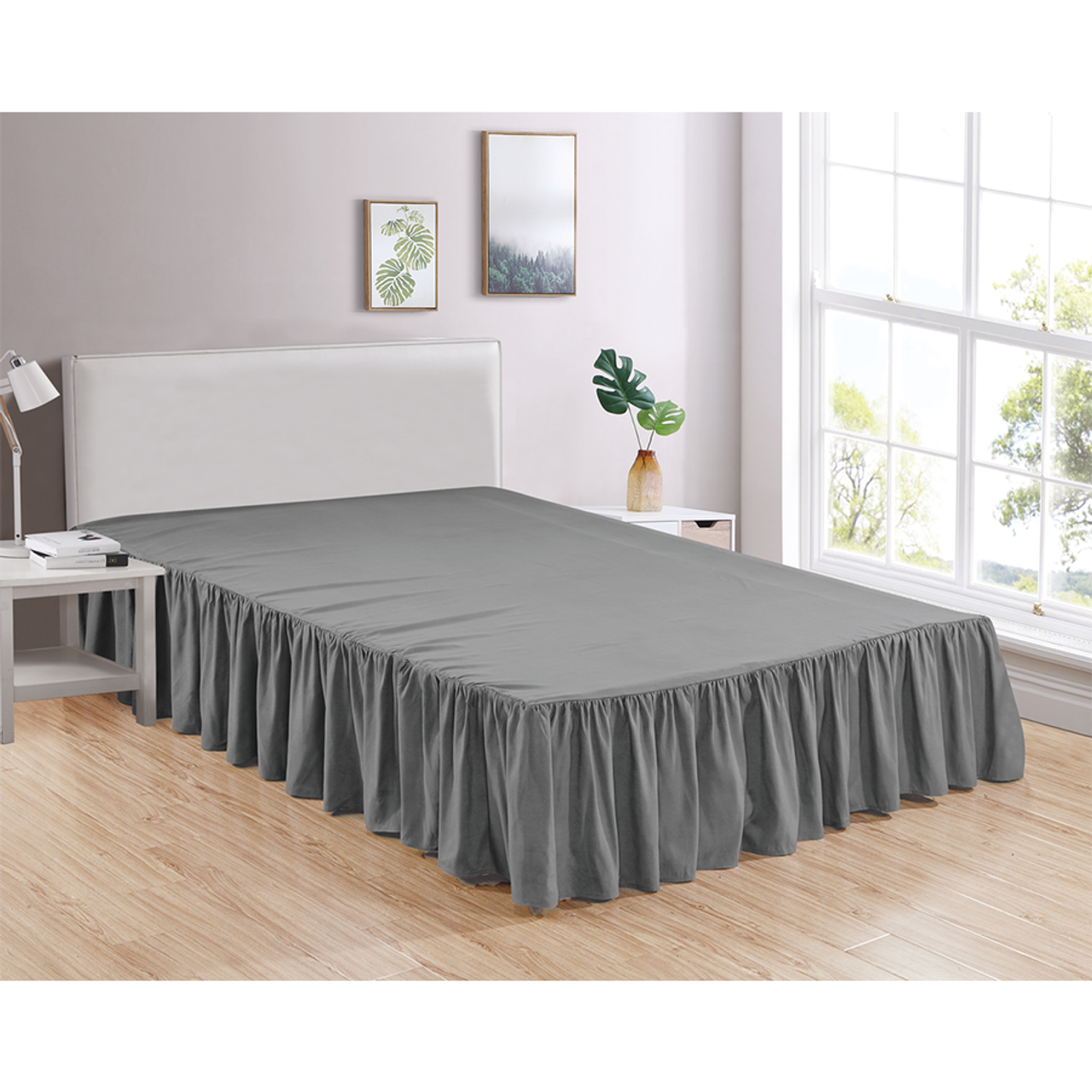Bed Skirt Soft Dust Ruffle 100 Brushed Microfiber With 14 Drop Legacy Decor